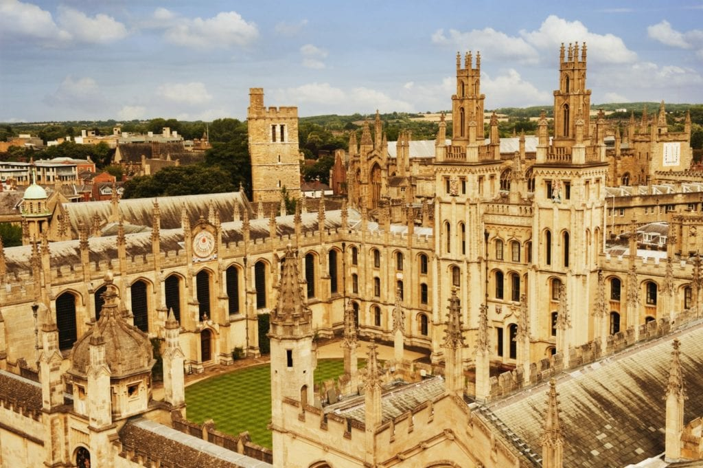 University buildings in a city, Oxford University, Oxford, Oxfordshire, England
