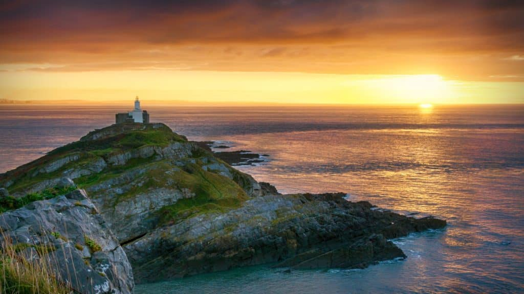 Mumbles Lighthouse Sunrise
