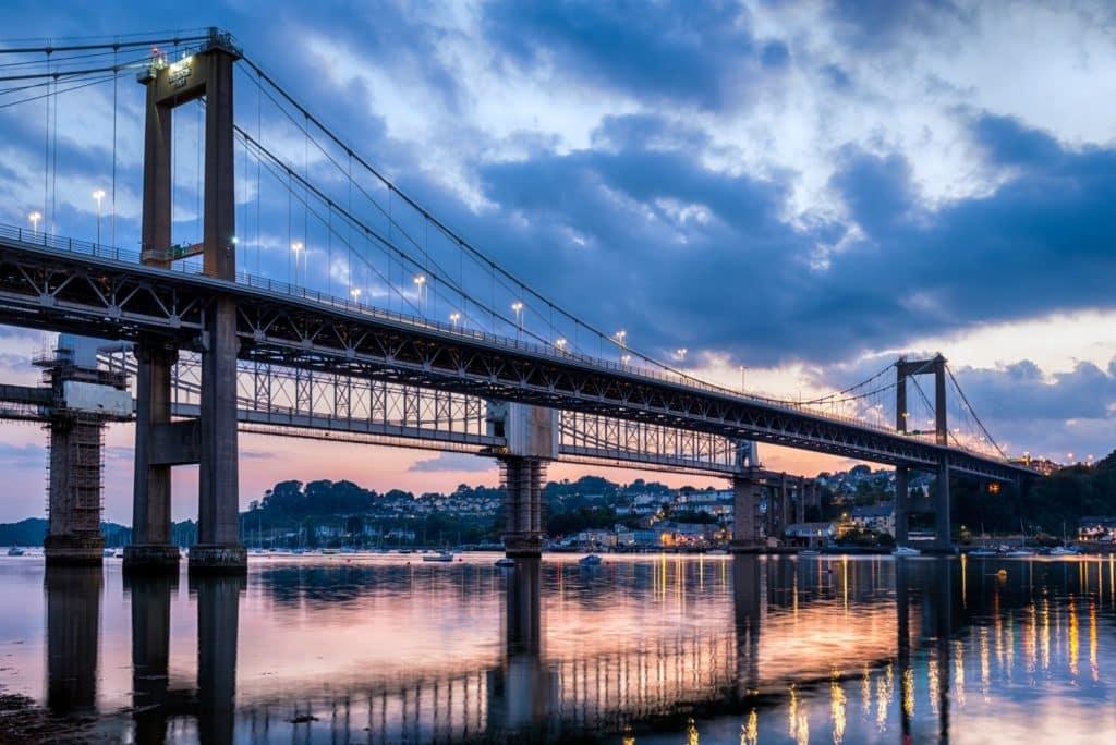 The Tamar Bridge Plymouth Devon and Cornwall
